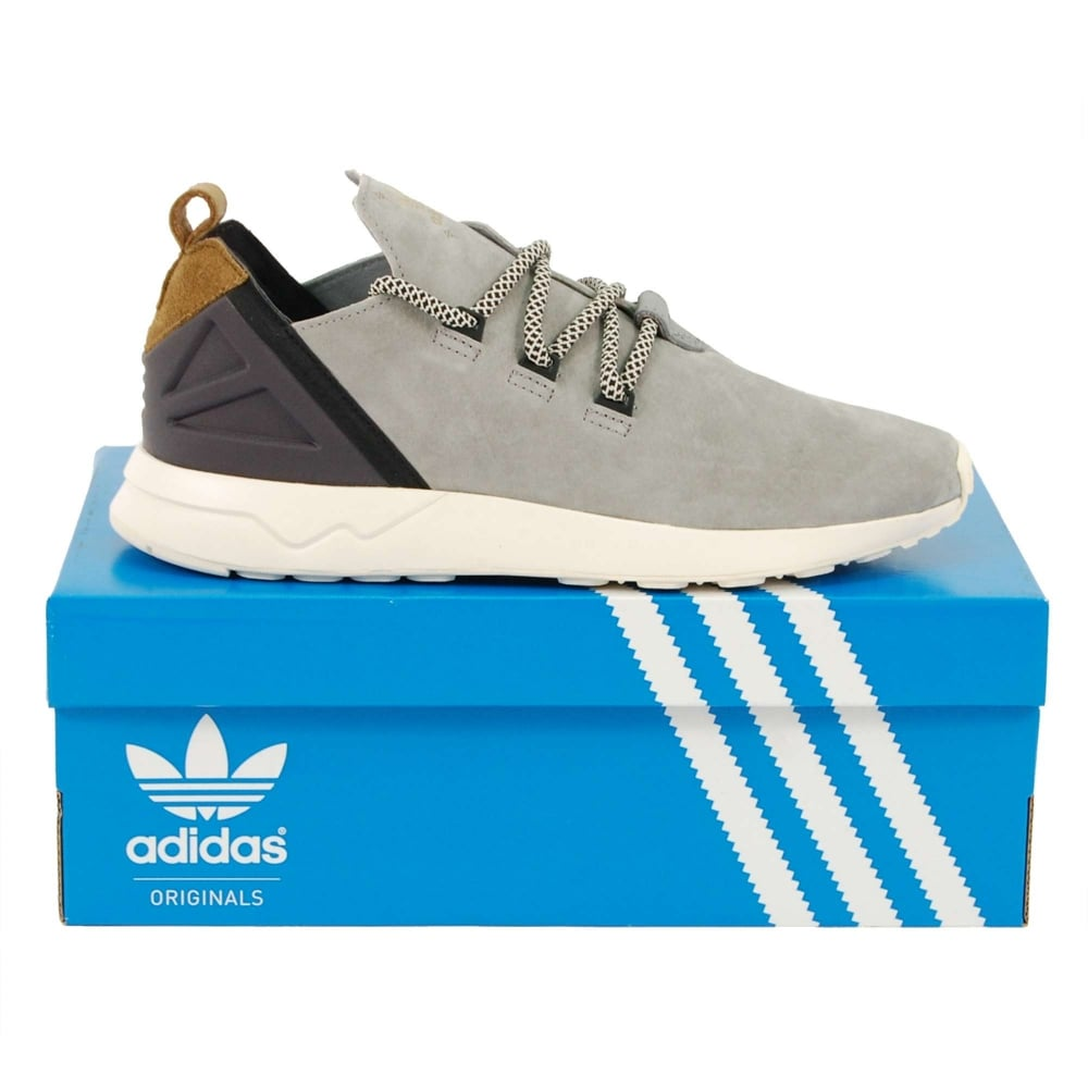 Adidas Originals ZX Flux ADV X Light Onix Craft Khaki Chalk White ... 85a6352226989
