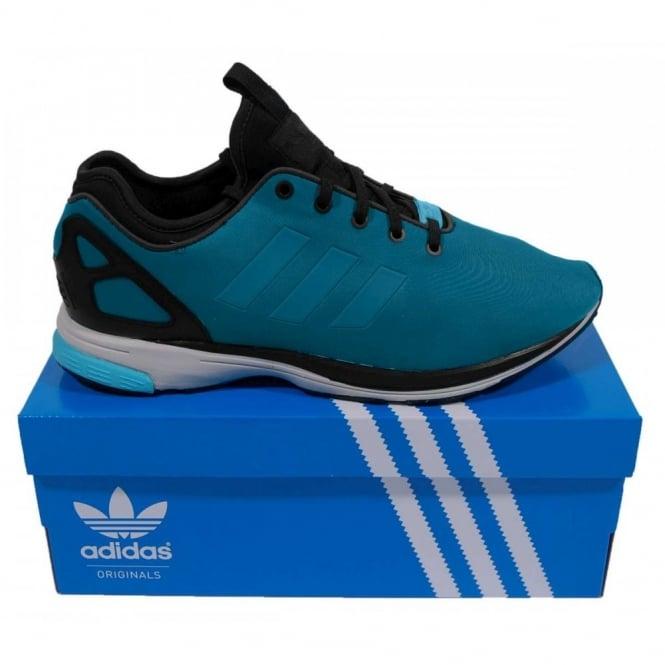 249da40a82e9 Adidas Originals ZX Flux Tech NPS Hero Blue Black - Mens Clothing ...