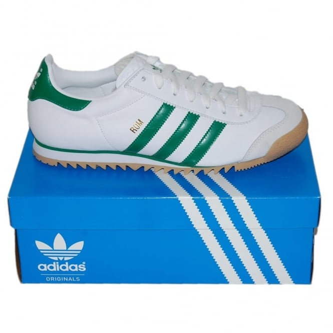 26a2eea1d73 Adidas Originals Rom White Green - Mens Clothing from Attic Clothing UK