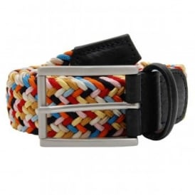 Stretch Woven Belt Square Buckle Candy Mix