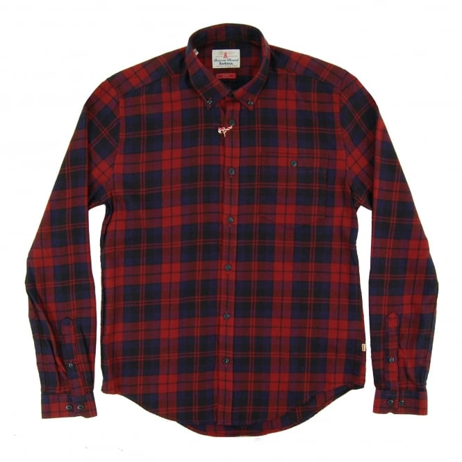 Barbour Airlie Check Shirt Rich Red