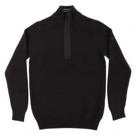 Alloy Half Zip Jumper Black