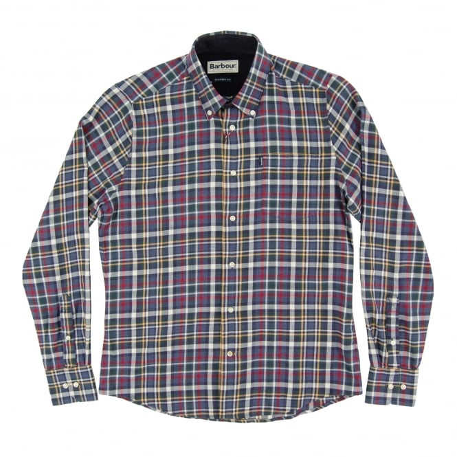 Barbour Alvin Check Shirt Blue Marl