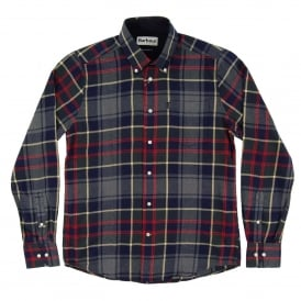 Alvin Check Shirt Grey Marl