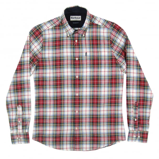 Barbour Alvin Check Shirt White