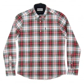 Alvin Check Shirt White