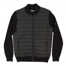 Baffle Zip Through Knit Black