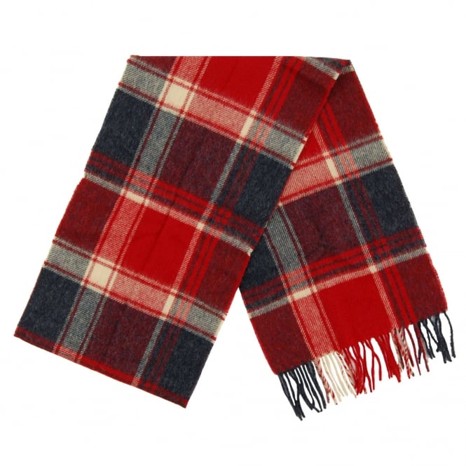 Barbour Baybridge Check Scarf Navy