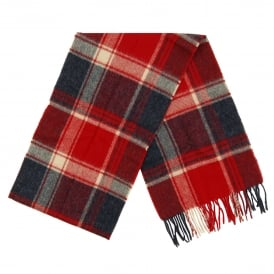 Baybridge Check Scarf Navy