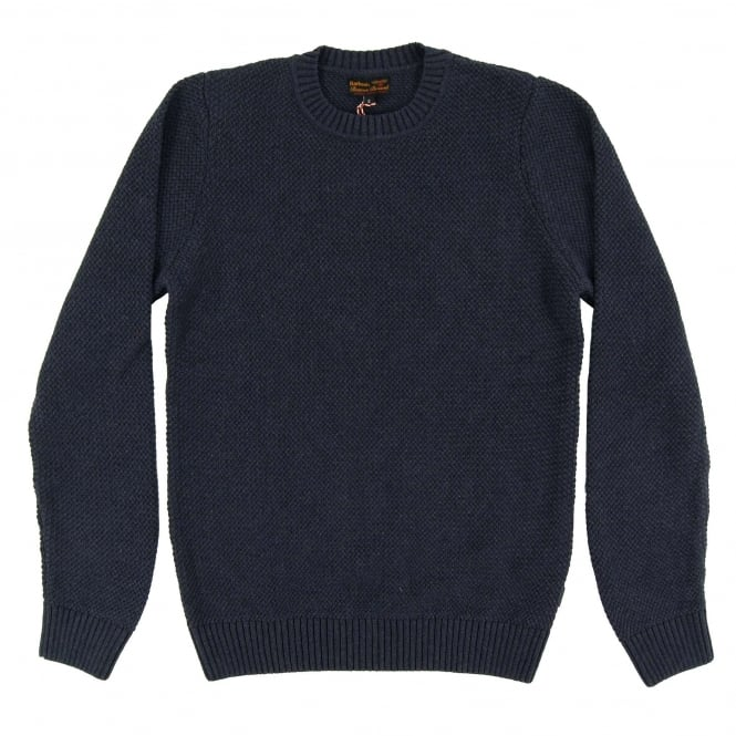 Barbour Bearsden Crew Jumper Navy Marl