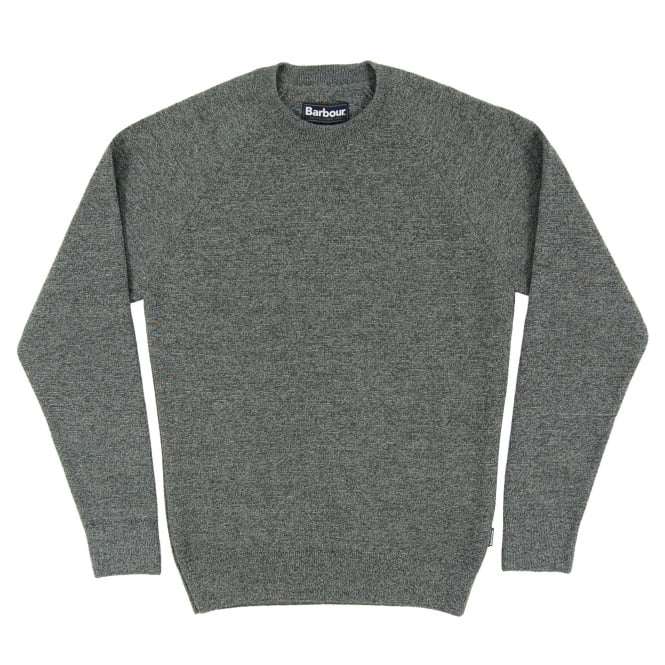 Barbour Becket Waterproof Crew Jumper Grey
