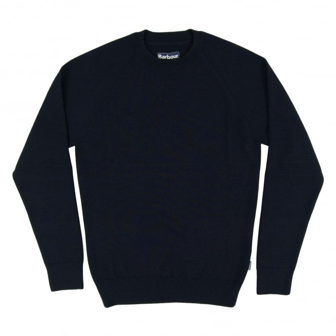 Barbour Becket Waterproof Crew Jumper Navy