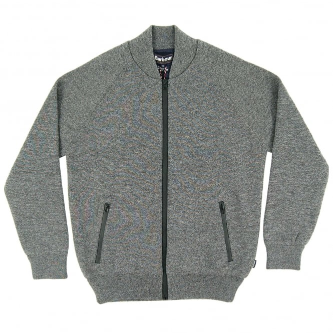 Barbour Becket Waterproof Zip Through Knit Grey