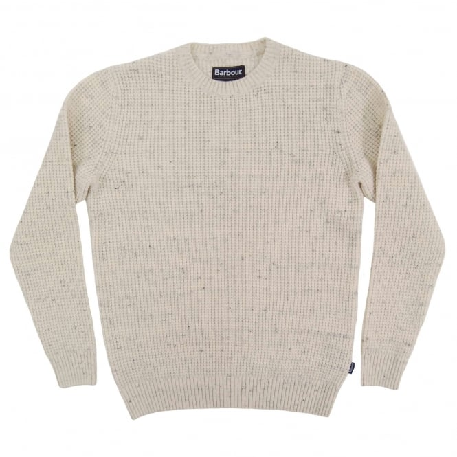 Barbour Blade Textured Crew Jumper Fog