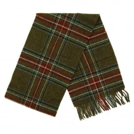 Blanchlan Check Scarf Olive