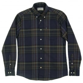 Blane Tailored Check Shirt Forest