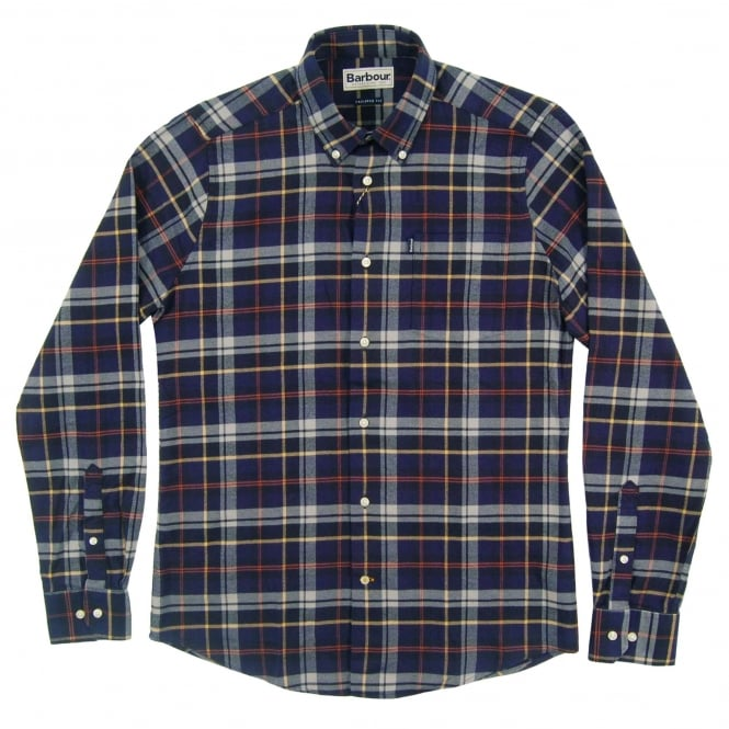 Barbour Blane Tailored Check Shirt Navy