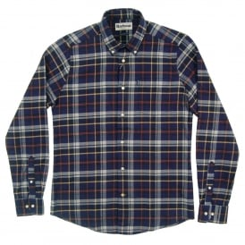 Blane Tailored Check Shirt Navy