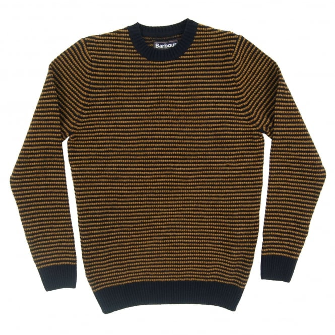 Barbour Brig Stripe Crew Jumper Navy