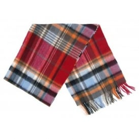 Bright Country Plaid Scarf Blue Red