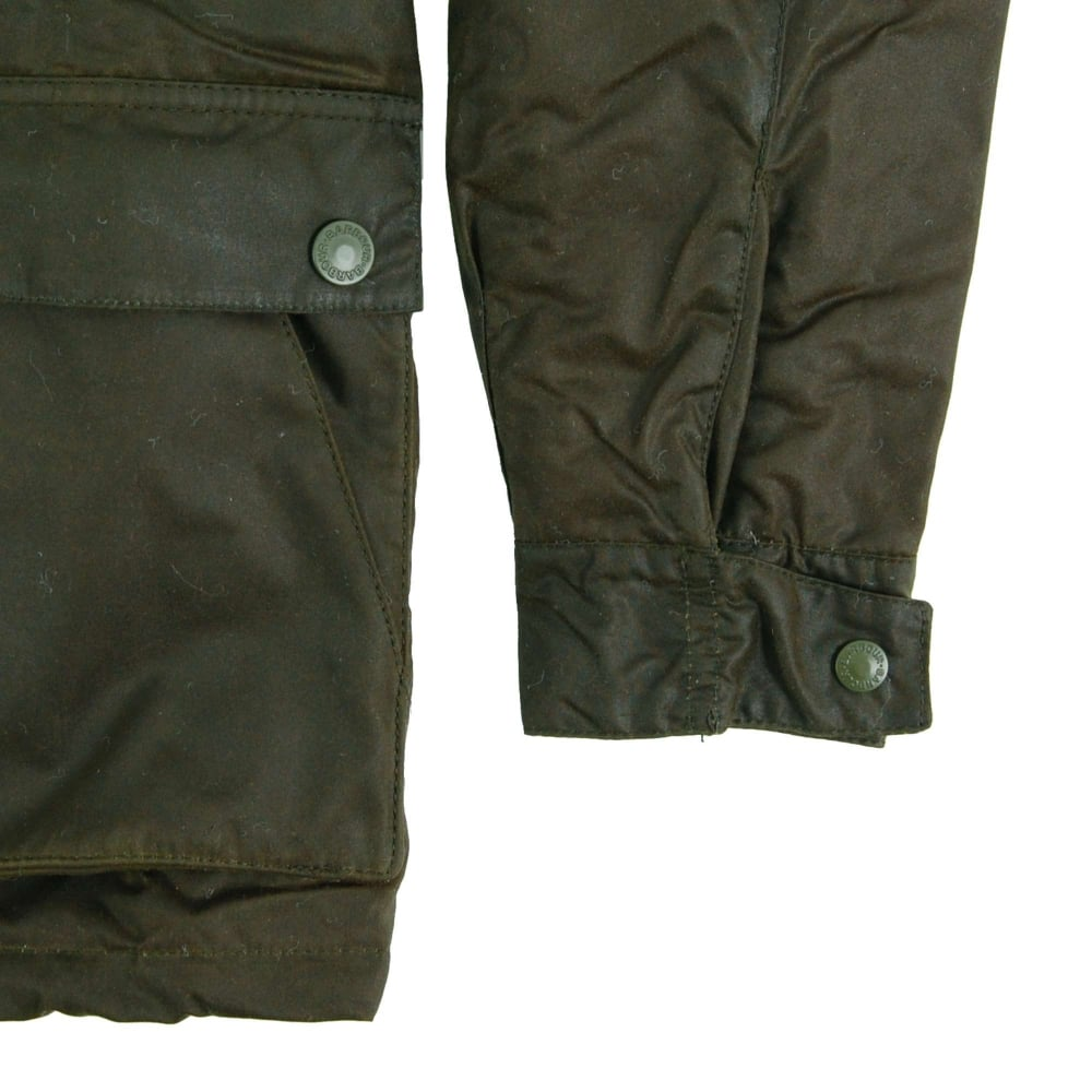 Barbour Brindle Wax Parka Jacket Fern - Mens Clothing from Attic ... b89d8694aa00