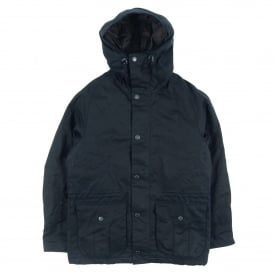 Bryn Hooded Wax Jacket Navy