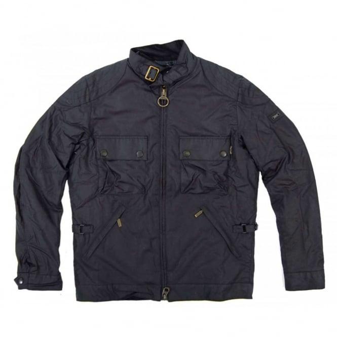 347284f3de Barbour International Burgat Wax Jacket Navy - Mens Clothing from ...