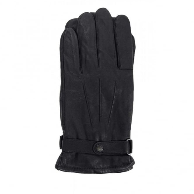 Barbour Burnished Leather Thinsulate Gloves Black