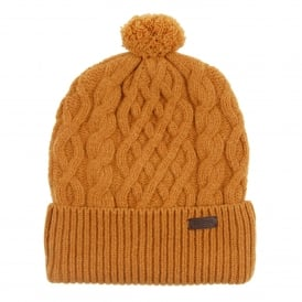 Cable Knit Beanie Antique Gold