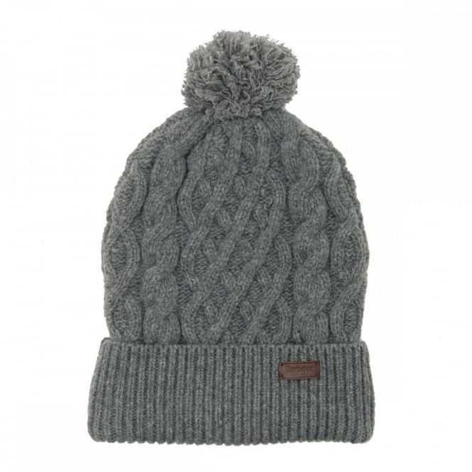 Barbour Cable Knit Beanie Grey - Mens Clothing from Attic Clothing UK 20777ddfd07