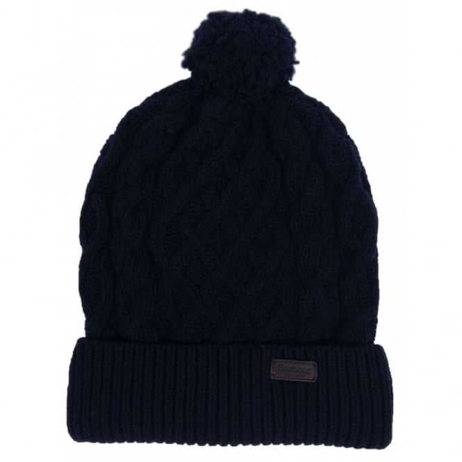 df360709df175 Barbour Cable Knit Beanie Navy - Mens Clothing from Attic Clothing UK