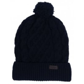 Cable Knit Beanie Navy