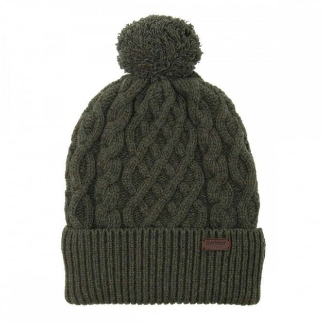 8a1cd7e004458 Barbour Cable Knit Beanie Olive - Mens Clothing from Attic Clothing UK