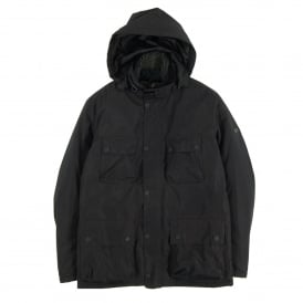 Capacitor Waterproof Hooded Jacket Black