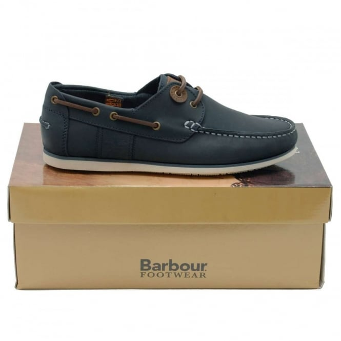 Capstan Boat Shoe Blue Leather - Mens