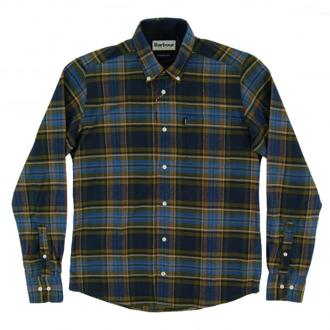 Barbour Castlebay Tailored Check Shirt Bright Blue