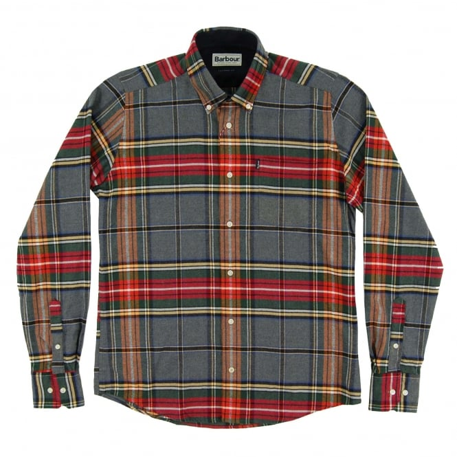 Barbour Castlebay Tailored Check Shirt Grey Marl