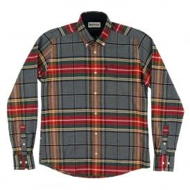 Castlebay Tailored Check Shirt Grey Marl
