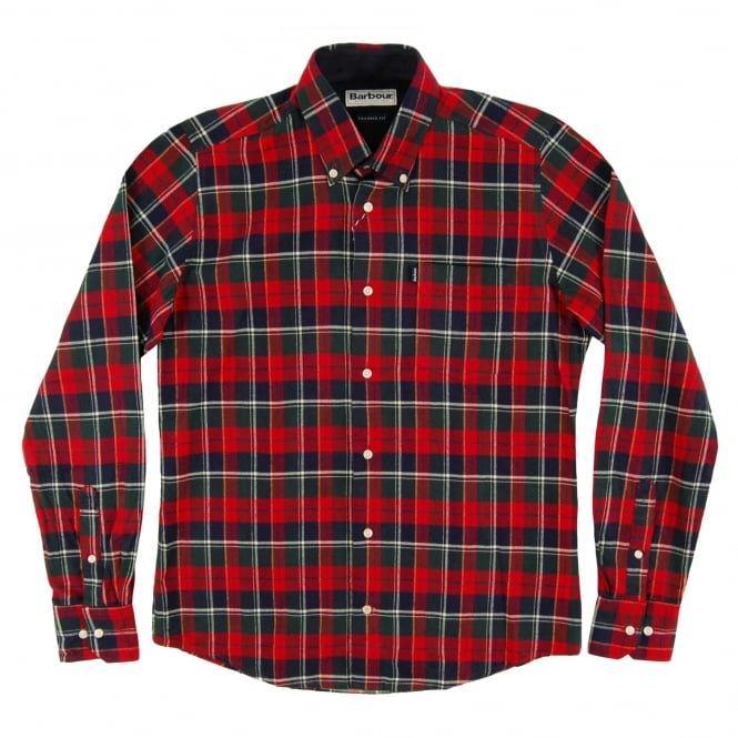 Barbour Castlebay Tailored Check Shirt Rich Red
