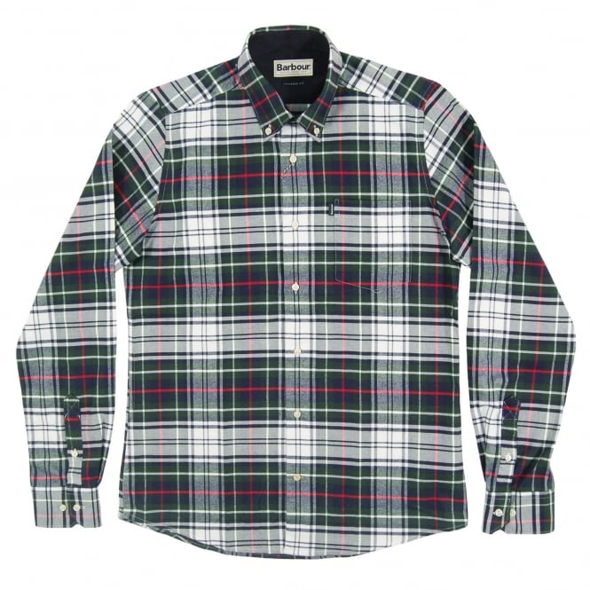 Barbour Castlebay Tailored Check Shirt White