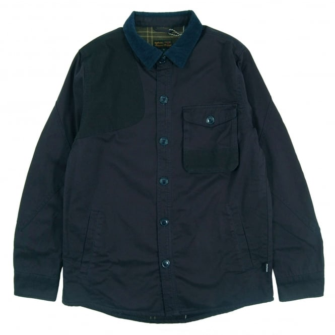 Barbour Clough Overshirt City Navy