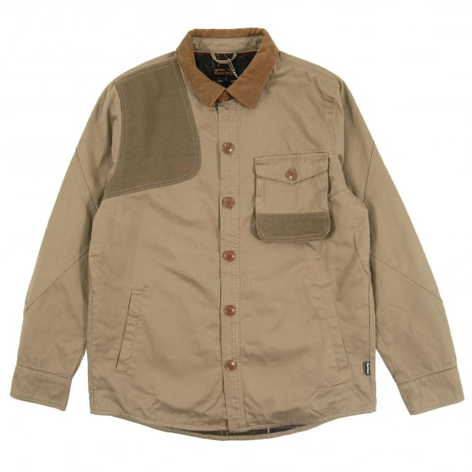 Barbour Clough Overshirt Stone