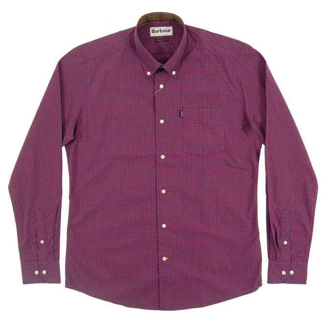 Barbour Country Tailored Gingham Shirt Crimson