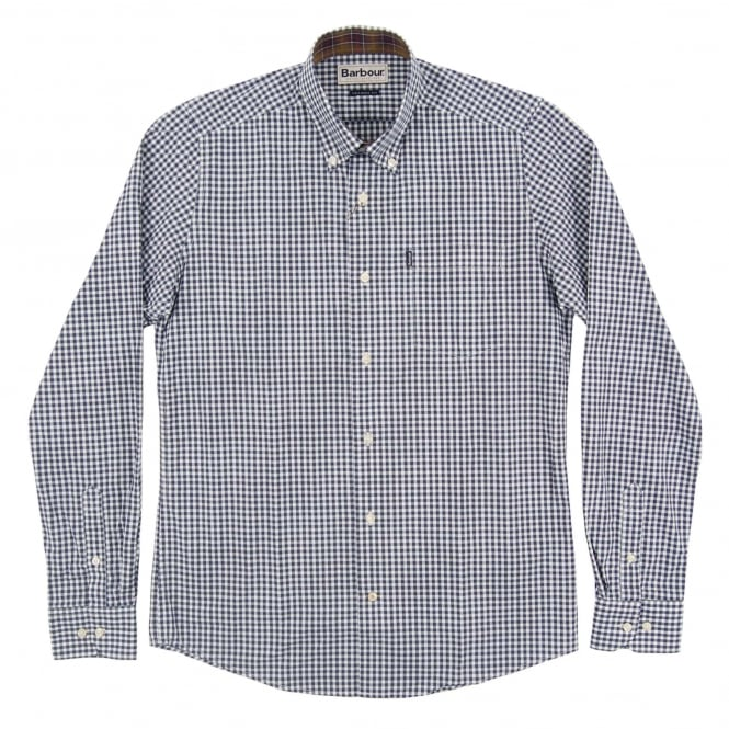 Barbour Country Tailored Gingham Shirt Navy