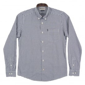 Country Tailored Gingham Shirt Navy