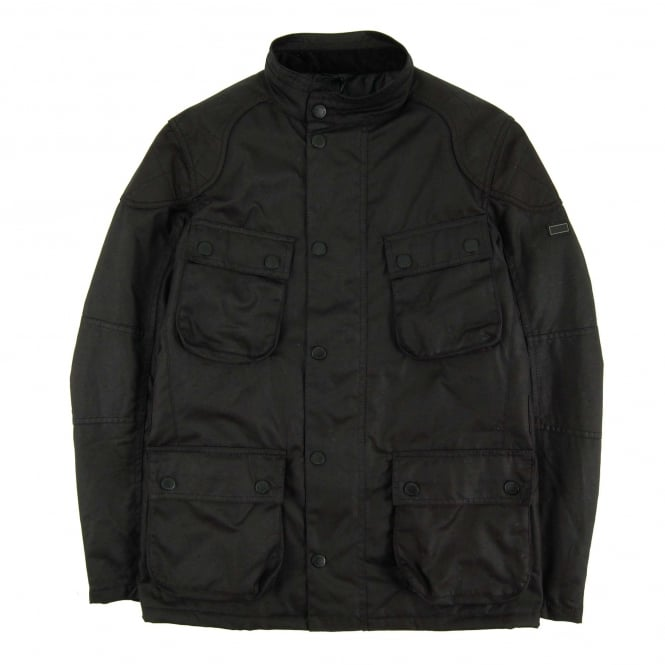 Barbour International Crank Wax Jacket Black