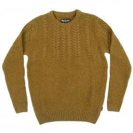 Craster Cable Crew Jumper Antique Gold