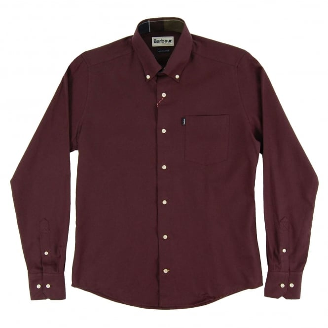 Barbour Don Tailored Shirt Merlot