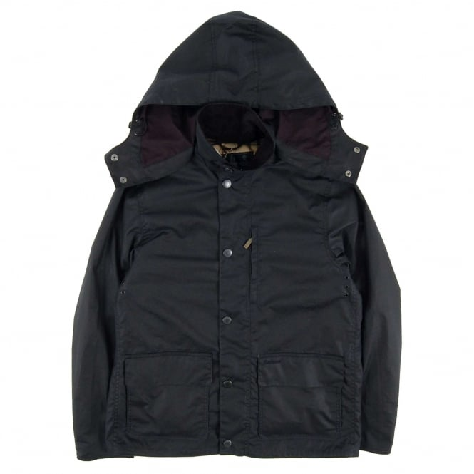 Barbour Dulwich Hooded Wax Jacket Navy