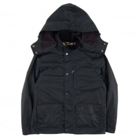 Dulwich Hooded Wax Jacket Navy